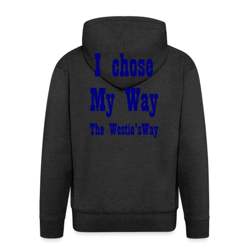 I chose My Way Navy - Men's Premium Hooded Jacket