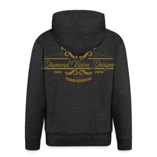 Logo Diamond Vision Design - Men's Premium Hooded Jacket
