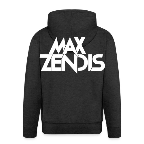MAX ZENDIS Logo Big - Black/White - Männer Premium Kapuzenjacke