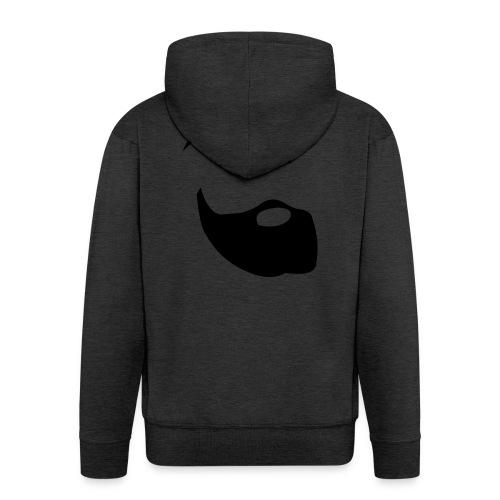 Il Barba, the Beard black - Felpa con zip Premium da uomo