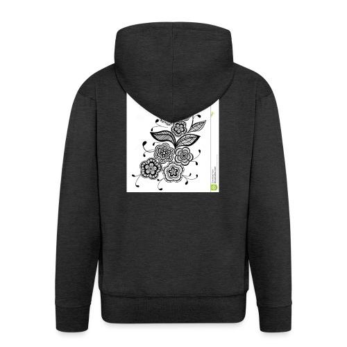 diseño de flores - Chaqueta con capucha premium hombre