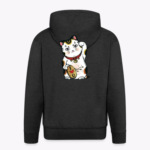 Love Lucky Cat - Men's Premium Hooded Jacket