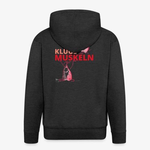 Kluge Muskeln - Männer Premium Kapuzenjacke