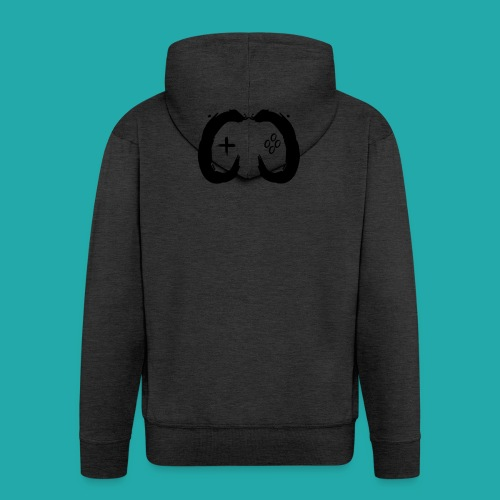 Crowd Control Controller Logo Black Large - Men's Premium Hooded Jacket