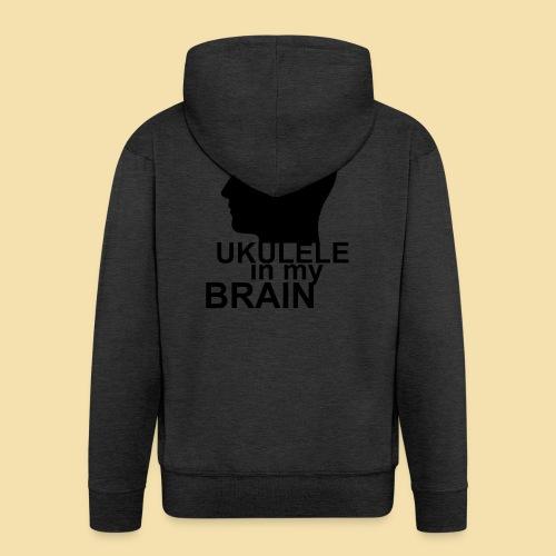 Ukulele in my brain - Männer Premium Kapuzenjacke