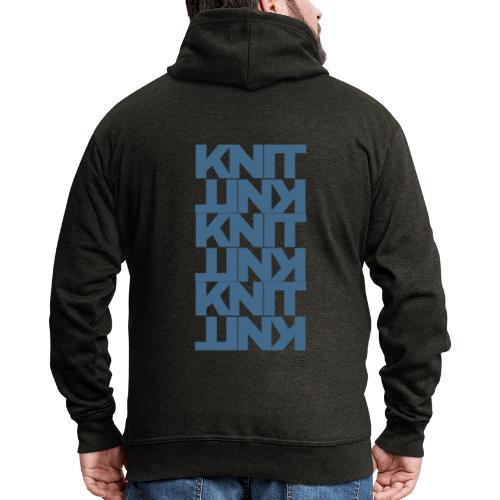 Garter Stitch, dark - Men's Premium Hooded Jacket