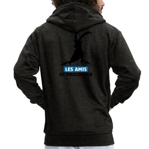 Logo Les Amis de Pralo grand noir - Veste à capuche Premium Homme