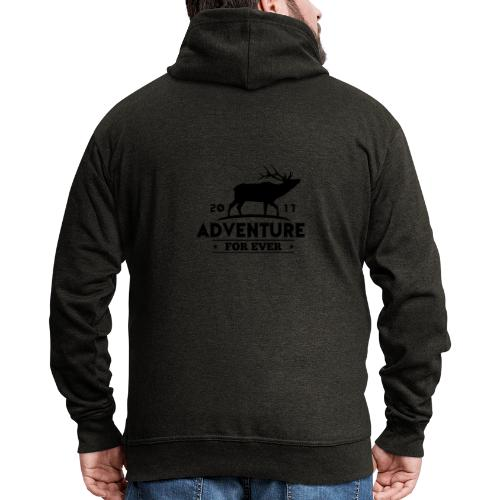 ADVENTURE FOR EVER - CERVO - Felpa con zip Premium da uomo