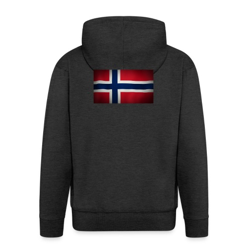Norsk Flagg - Premium Hettejakke for menn
