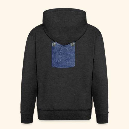 hamster in the poket - Felpa con zip Premium da uomo