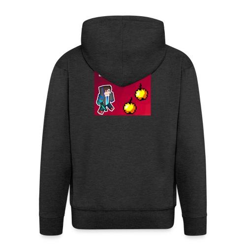 Logo kleding - Mannenjack Premium met capuchon