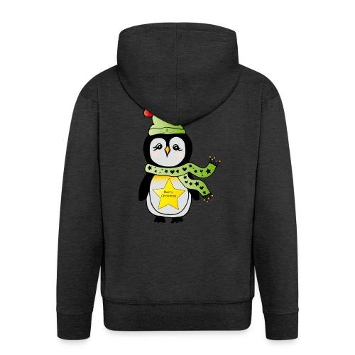 Christmas Pinguin - Männer Premium Kapuzenjacke