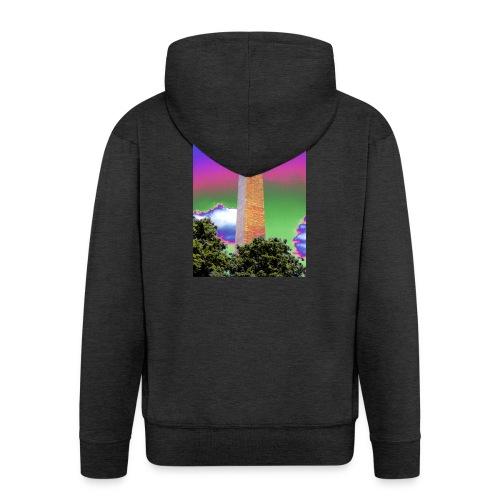 SIXTH DIEMENSION MONUMENT - Men's Premium Hooded Jacket
