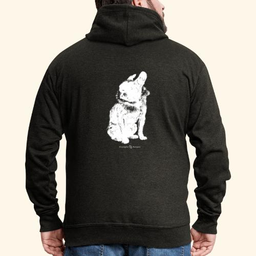 white vintage French Bulldog - Veste à capuche Premium Homme