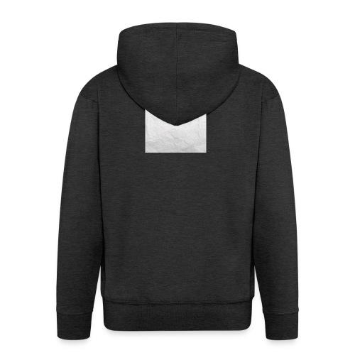 Crumpled White Paper Texture - Men's Premium Hooded Jacket
