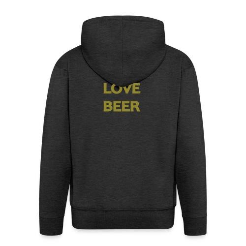 I LOVE BEER - Felpa con zip Premium da uomo