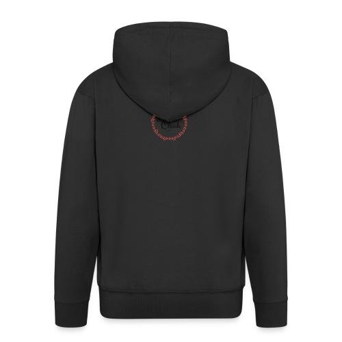 Little Clock - Felpa con zip Premium da uomo