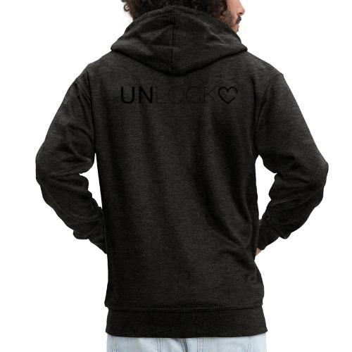 Unlock - Felpa con zip Premium da uomo