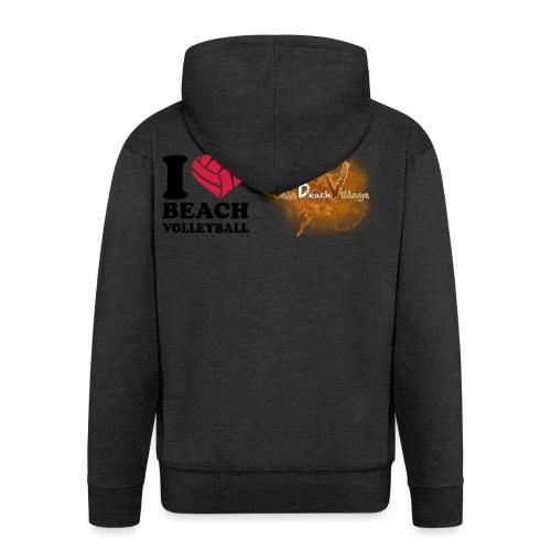 I Love BeachVolley PalaBeach - Felpa con zip Premium da uomo