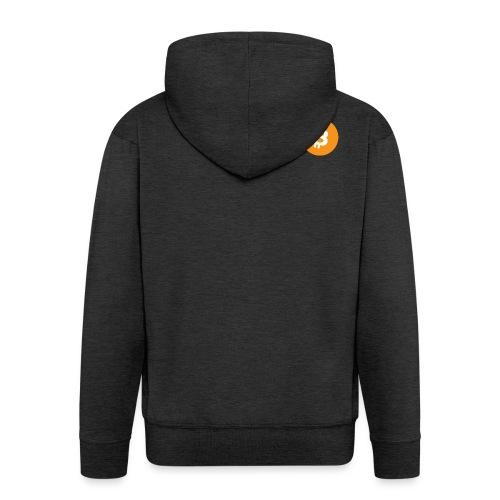 Bitcoin Logo - Men's Premium Hooded Jacket