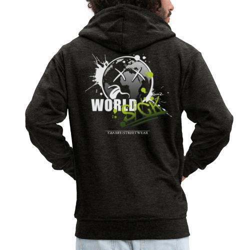 world sick - Männer Premium Kapuzenjacke
