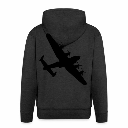 Bomber Plane - Felpa con zip Premium da uomo
