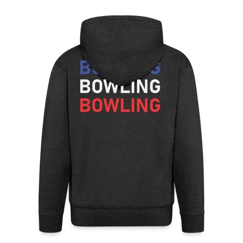 Bowling Bleu Blanc Rouge - Veste à capuche Premium Homme