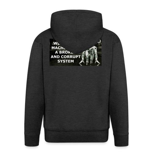 BROKEN MACHINES COLLECTION BY SYSTEM MACHINE - Men's Premium Hooded Jacket