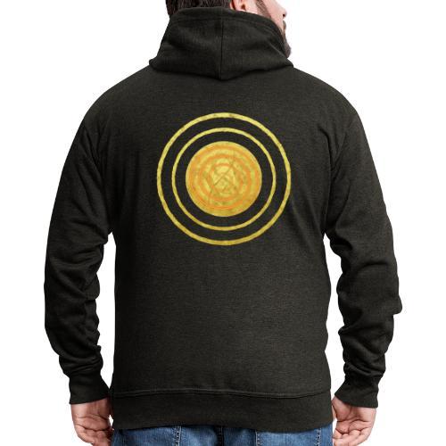 Glückssymbol Sonne - positive Schwingung - Spirale - Männer Premium Kapuzenjacke