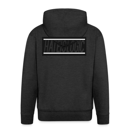 Hateislogic Official Brand - Men's Premium Hooded Jacket