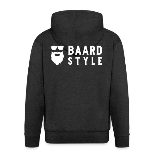 BaardStyle_1-white hoodie - Mannenjack Premium met capuchon