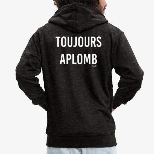 toujours aplomb - Felpa con zip Premium da uomo