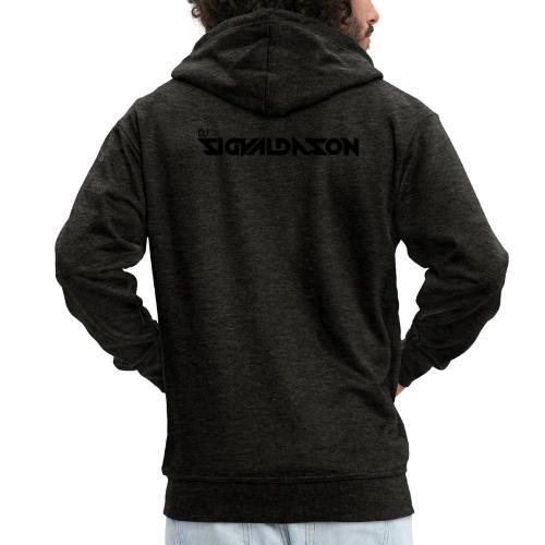 DJ logo sort - Herre premium hættejakke