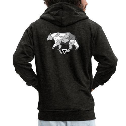 Shaded Bear - Men's Premium Hooded Jacket