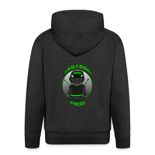 Assassinfrog logo 2 - Men's Premium Hooded Jacket