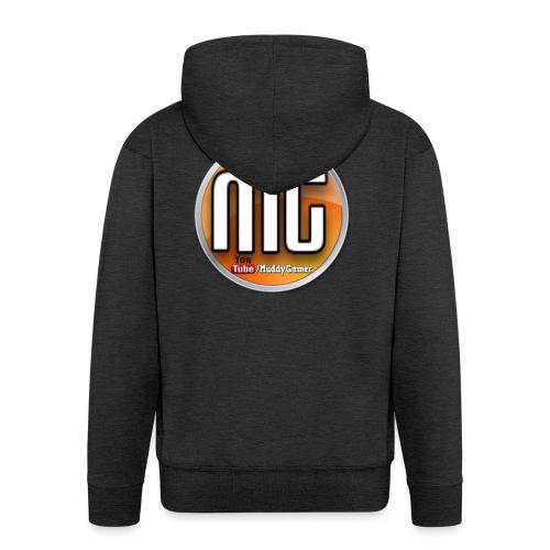 muddy gamer branding - Men's Premium Hooded Jacket