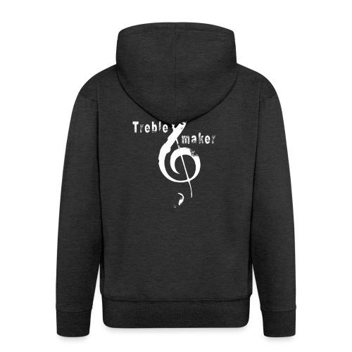 treble_maker-white - Men's Premium Hooded Jacket