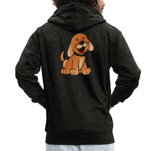 cartoon dog - Felpa con zip Premium da uomo