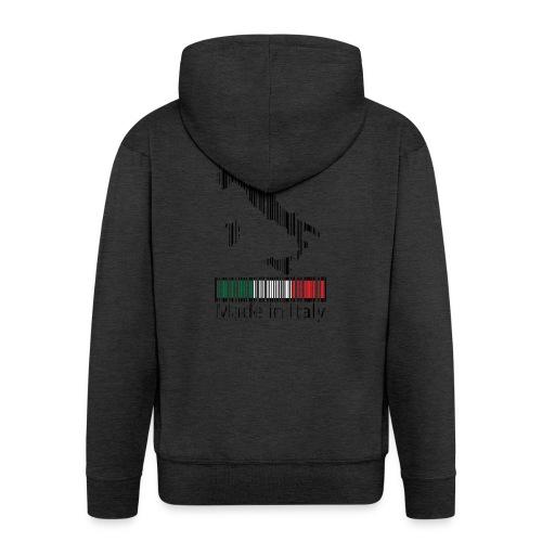 Made in Italy - Felpa con zip Premium da uomo