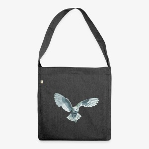 barn owl - Schultertasche aus Recycling-Material