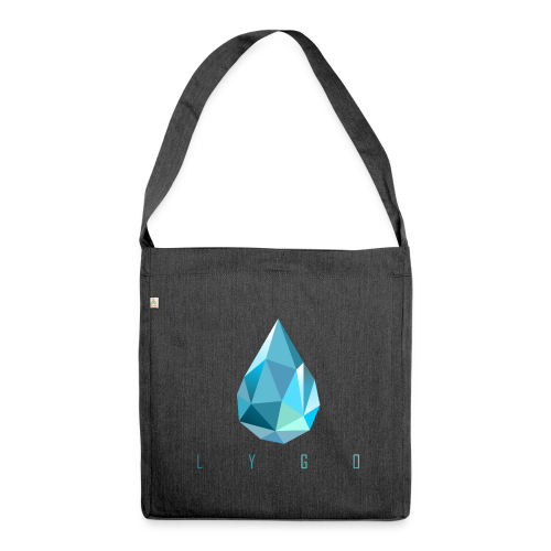 Crystal Water - Schultertasche aus Recycling-Material