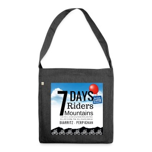 7 days 7 riders 7 mountains Square artwork - Shoulder Bag made from recycled material