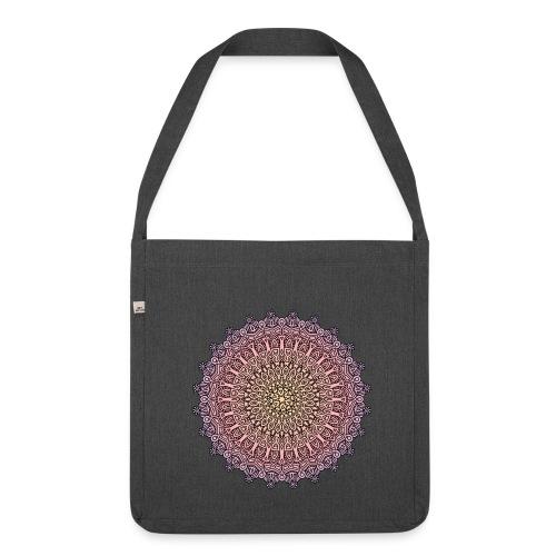 Mandala Sonnenuntergang - Schultertasche aus Recycling-Material