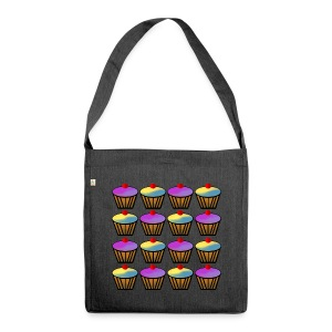 Cupcakes - Shoulder Bag made from recycled material