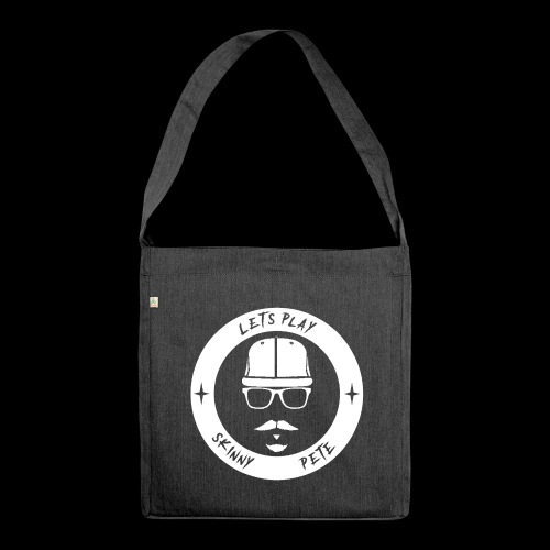 Skinny Pete Logo weiß - Schultertasche aus Recycling-Material
