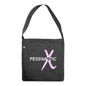 pessimistic - Shoulder Bag made from recycled material