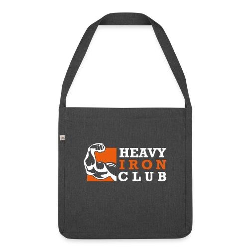 HIC Logo fuer dunklen Untergrund - Schultertasche aus Recycling-Material