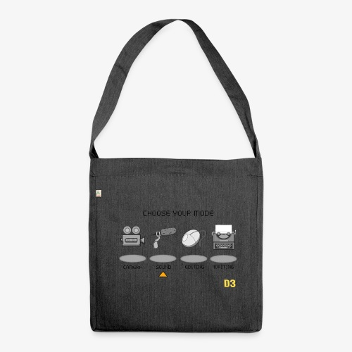Sound/Black- Choose Your Mode - Shoulder Bag made from recycled material