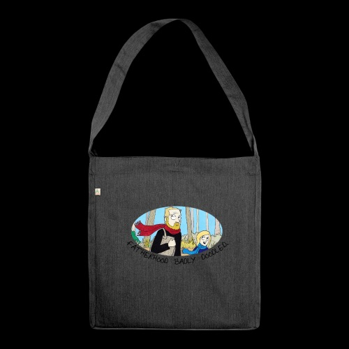 Fatherhood Badly Doodled - Shoulder Bag made from recycled material