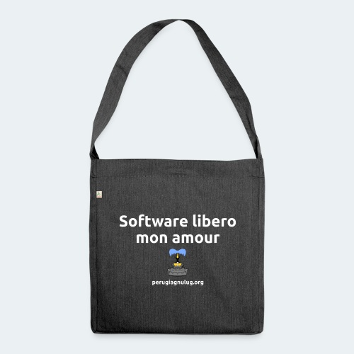Software libero mon amour - Borsa in materiale riciclato